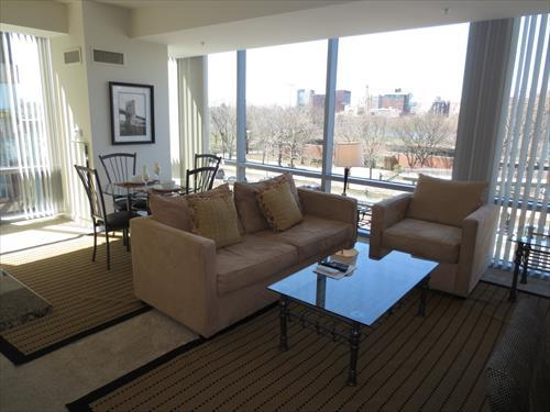Living Room - Lux 2BR Apt Near Waterfront - Boston - rentals