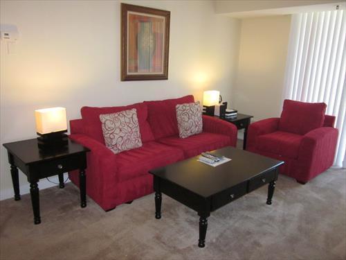 Living Room - Lux 1BR w/ balc near Bethesda Row - Bethesda - rentals