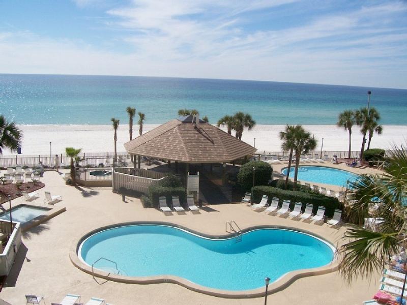 Beautiful View of pools, and Beach - SNOWBIRD SPECIALS: LUXURY 2B GULF FRONT wBEACH SET - Panama City Beach - rentals