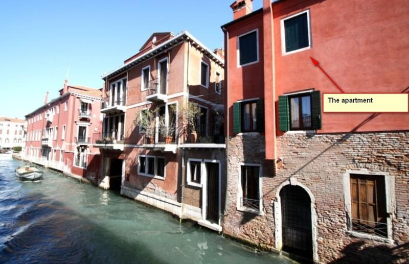 Apartment over venetian Canal and with big terrace - Image 1 - Venice - rentals