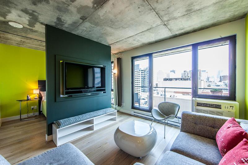 LIVING ROOM - LUXURY PIED AUX TERRE  LOFT #1707 - Montreal - rentals