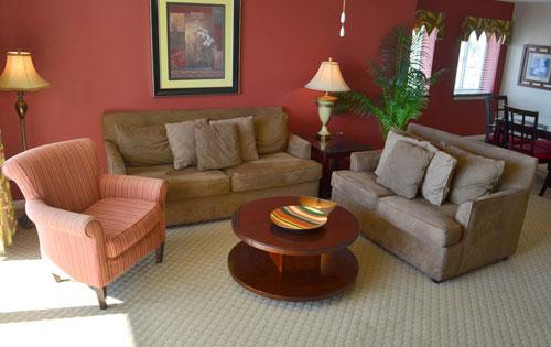 Spacious living area - Lovely 3BR Yacht Club condo on the water, 2-505 - North Myrtle Beach - rentals