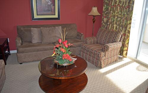 Living room with balcony access - Waterfront 3BR Yacht Club condo, pool/WiFi 2-701 - North Myrtle Beach - rentals