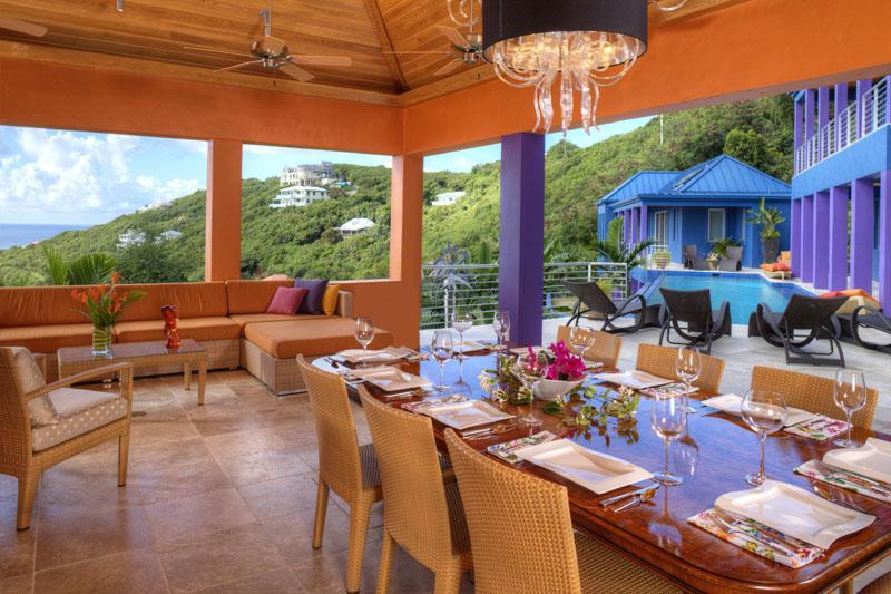 Large indoor/outdoor dining area - Large & Luxurious St. John Villa - Mare Blu - Saint John - rentals
