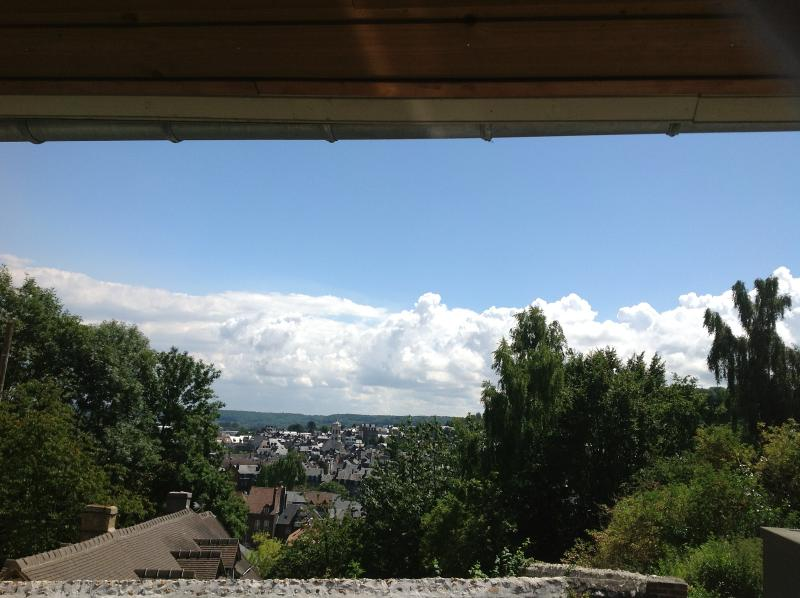 View From Covered Terraced at Front of Cottage - Charming 3 Bed Cottage With Beautiful Views - Honfleur - rentals