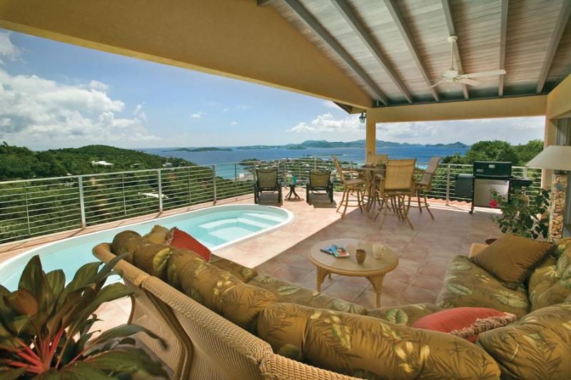 Outdoor living area - Ginger Thomas Luxury villa - Saint John - rentals
