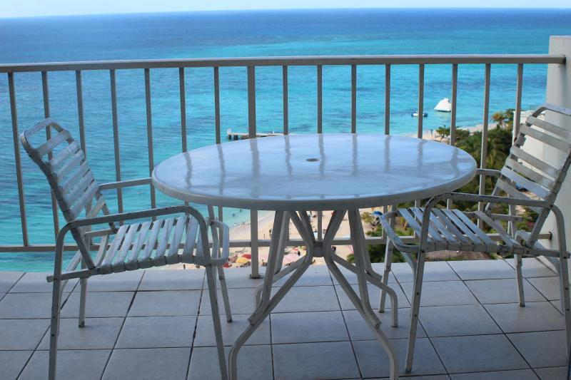 breakfast on the balcony!! - Gorgeous 14 Flr Ocean Front Studio - Montego Bay - rentals