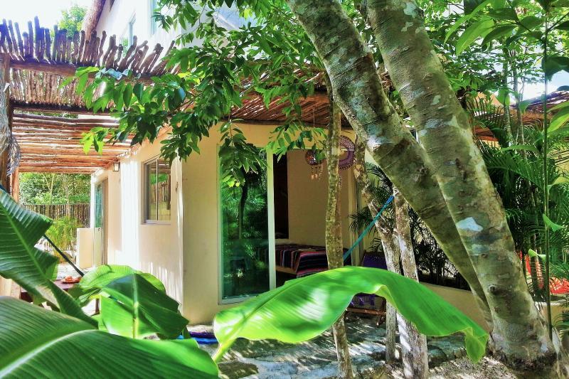 private garden - Casa Huuh, Studio A. Located and beautifull garden - Tulum - rentals