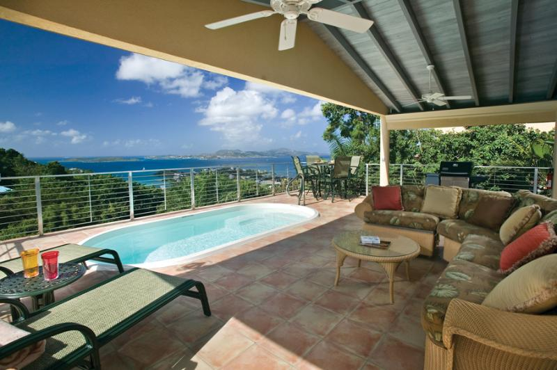 Patio outdoor living area - Ylang Ylang Luxury Viila Aug/Sep Special now - Cruz Bay - rentals