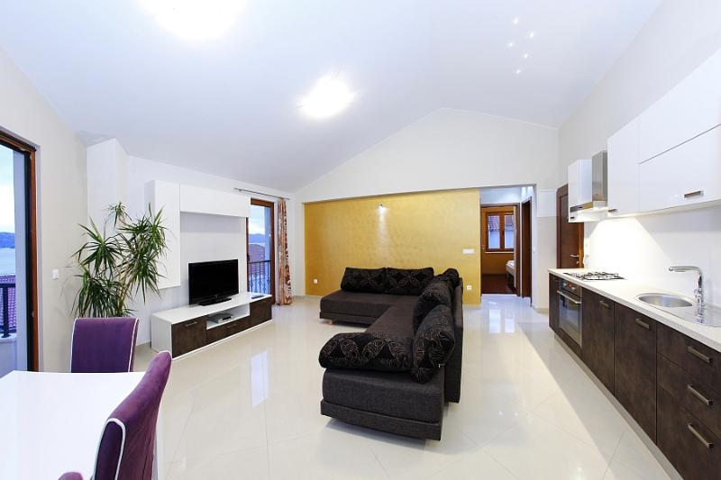 Living room - Luxury seaview apartment for 4 - Zadar - rentals