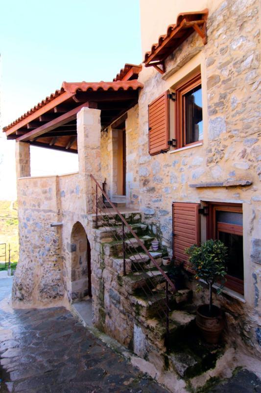 The stairs to Veranda - AFRODITI Cretan house - Plakias - rentals