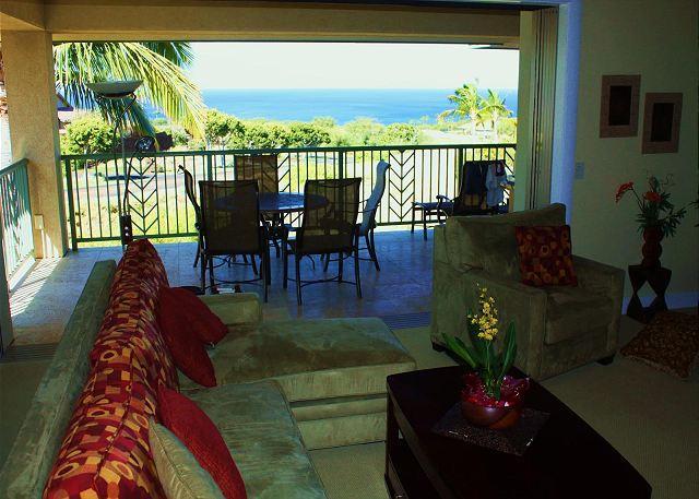 Living Room - SPRING SPECIAL 7TH NIGHT FREE - Oceanview 3 Bd/3 Bath Wai'Ula'Ula - Kamuela - rentals