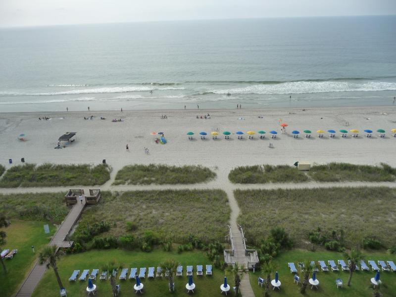 view from our balcony - DEALS!    June 20-27 $999 - Myrtle Beach - rentals