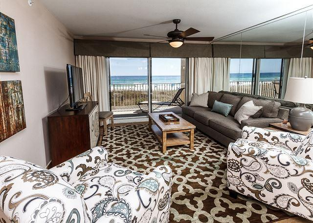 Even though the condo is on the first floor, the views are OUTST - SL104-BRAND NEW in 2014,BEACH FRONT,2 BEDROOM, FREE BEACH SERVICE,5 STAR UNIT - Fort Walton Beach - rentals