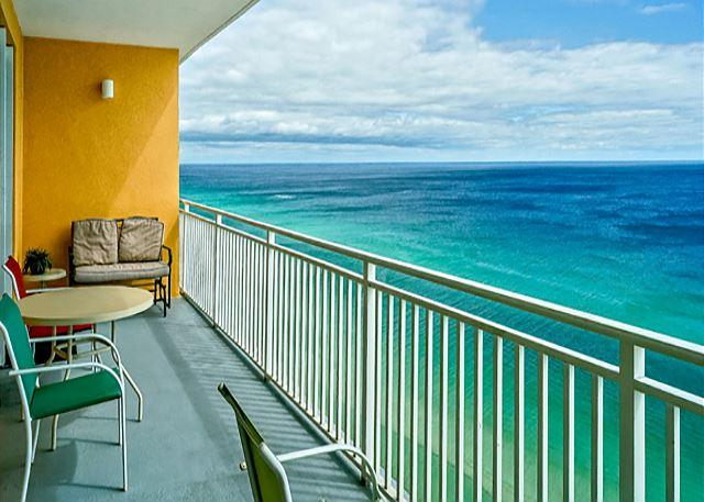 ROOMY BALCONY WITH A GREAT VIEW - Family Friendly Beachfront for 7, Open week of 3/28 - Panama City Beach - rentals