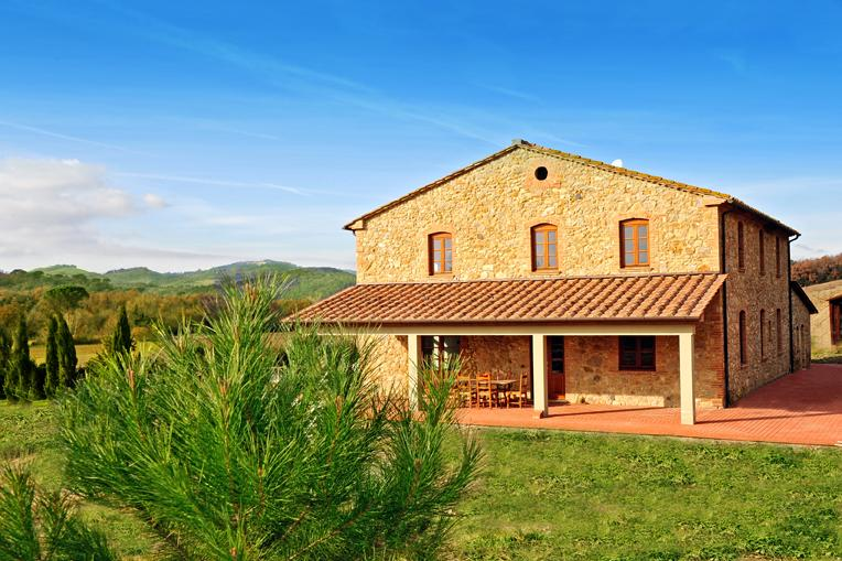 Villa from the garden - Apartment in tuscan villa - Montecatini Val di Cecina - rentals