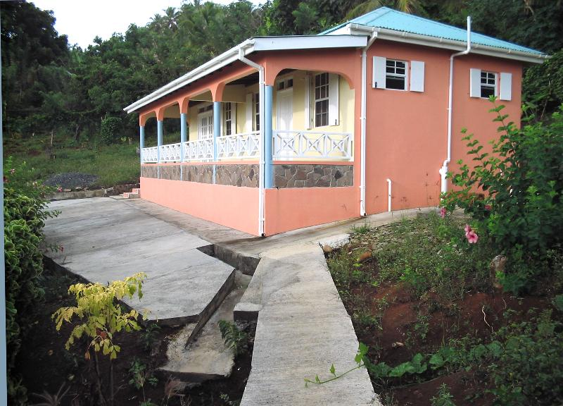 Guest House (Breezes Cottage) from the North - Breezes Cottage: Cozy; Self-Cater - Marigot - rentals