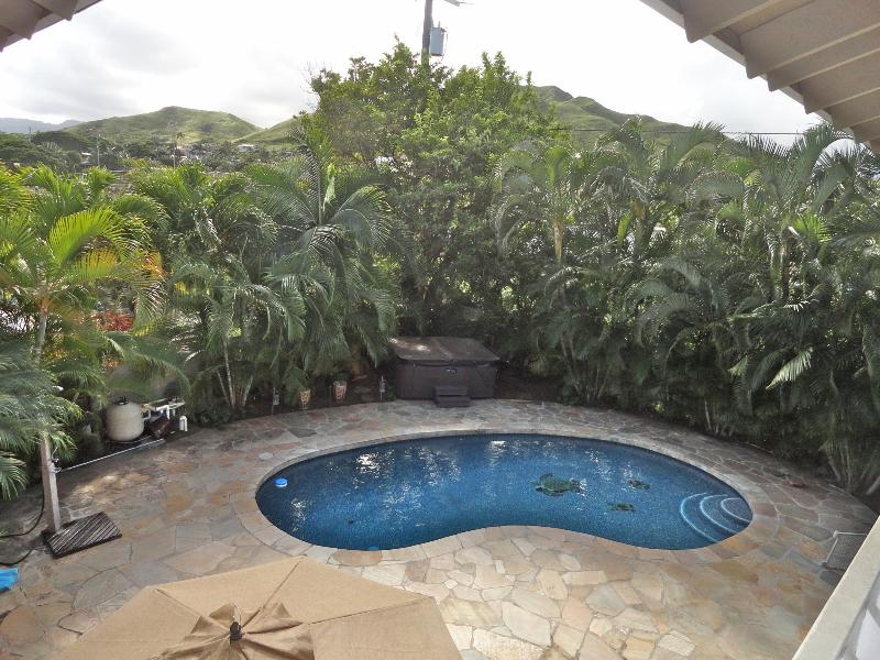 Outdoor pool & hot tub - Experience Complete Tranquility in Paradise - Kailua - rentals