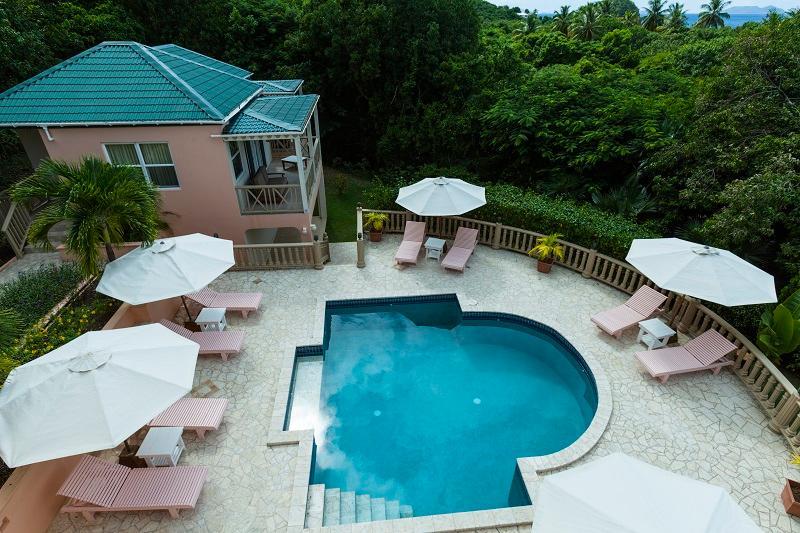 Overhead pool view - Sade - Tortola - rentals