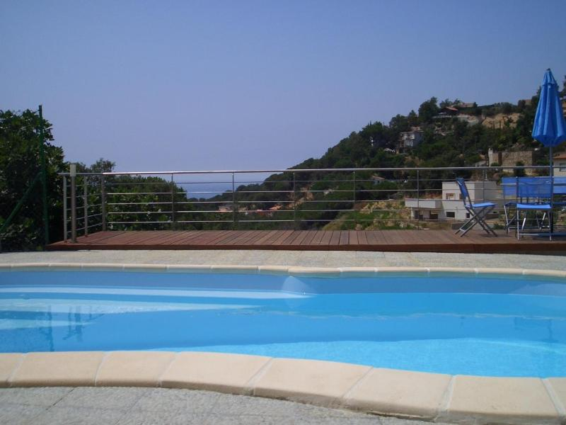 Pool area - MODERN VILLA WITH SPECTACULAR VIEW, WI-FI AND AIR- - Lloret de Mar - rentals