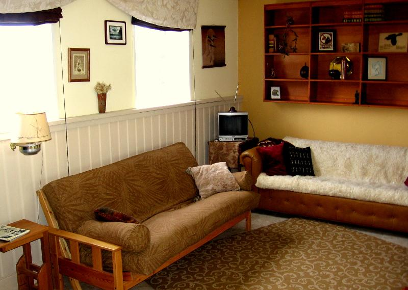 Comfy futon (could sleep two) and couch - Comfy 1 bedroom - can sleep  4 - Central Location! - Gustavus - rentals