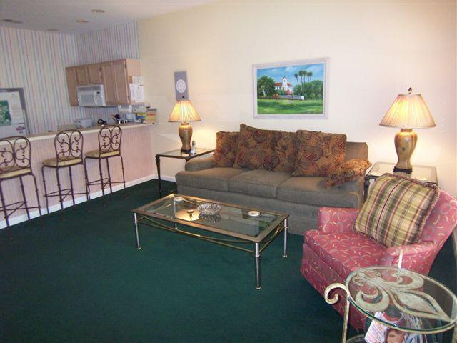 Living room with comfortable seating - 2 BR 2 BA (4C2) 1st Floor, Golf Sunset Beach, NC - Sunset Beach - rentals
