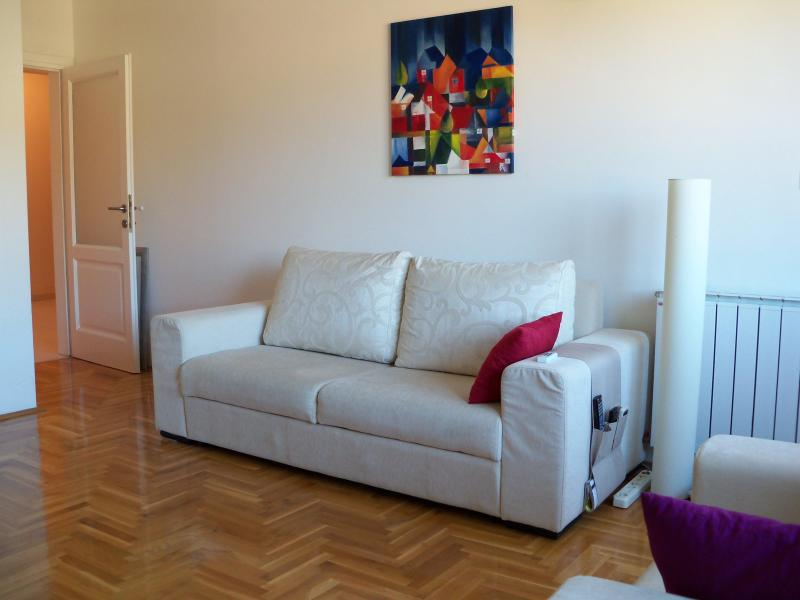 Living room - retractable sofa that sleeps two people (for 2+ guests) - Modern Apartment in Sarajevo - Sarajevo - rentals