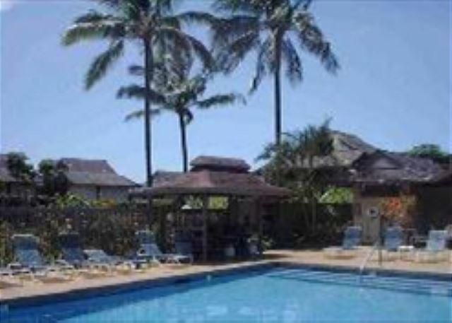 swimming pool, jacuzzi, and barbecues - Sandpiper 120A: Affordable, charming, convenient central Princeville. - Princeville - rentals