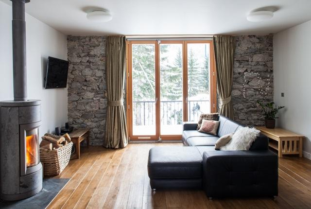 Stylish lounge area, 3 south facing balconies all with exceptional views of the Mont Blanc - Village Town House - Argentiere - rentals