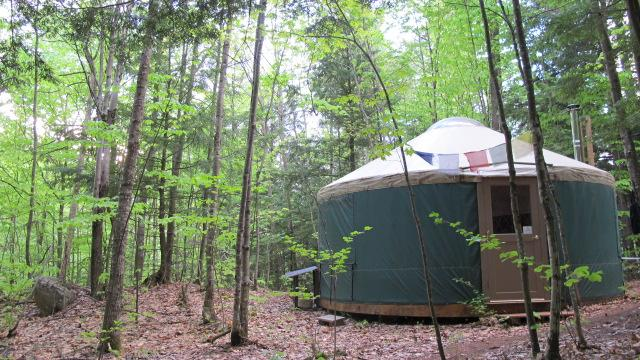 Let the forest and the nearby spring fed mountain brook bring you peace during your eco-holiday - Mountain Brook Yurt Retreat - Denmark - rentals