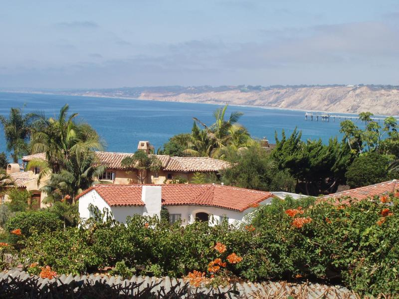 View front deck, living room and Kitchen - Stunning Ocean View: WalkTo Beach: Quite & Secure - La Jolla - rentals
