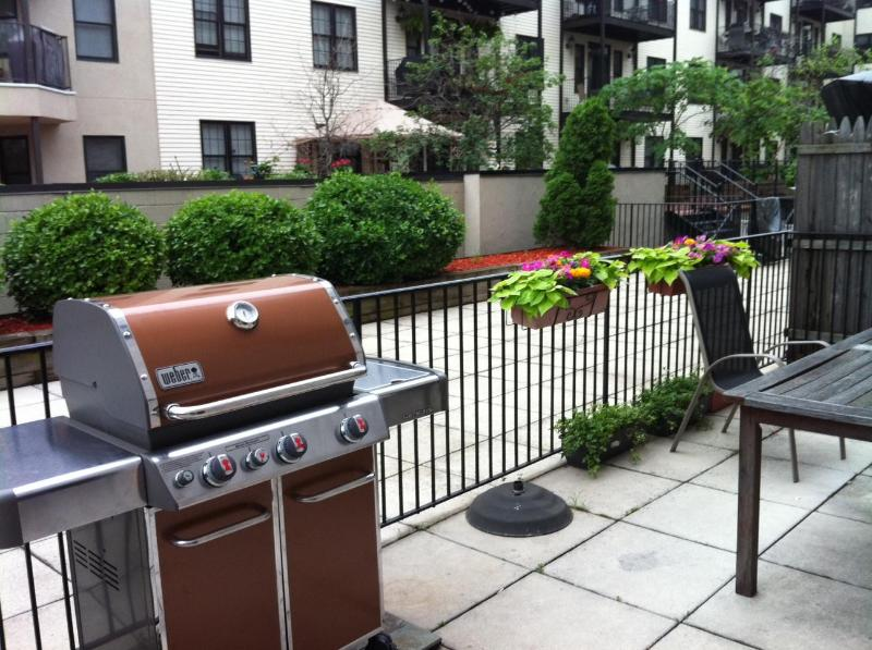 Outdoor space with grill - Hoboken, NJ - 3 miles from the Meadowlands 2 blks to pblc transpt. to train to the game/NY. Close to EWK, JFK, LGA airport - Hoboken - rentals