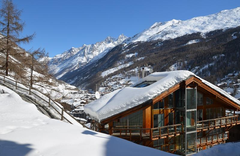 Winter-All three floors are accessed by private elevator and/or stairs - Heinz Julen Penthouse - in designer magazines - Zermatt - rentals