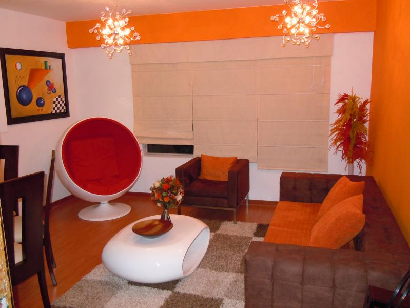 Living room - Design Luxury Apartament in the heart of Miraflores, Lima - Lima - rentals