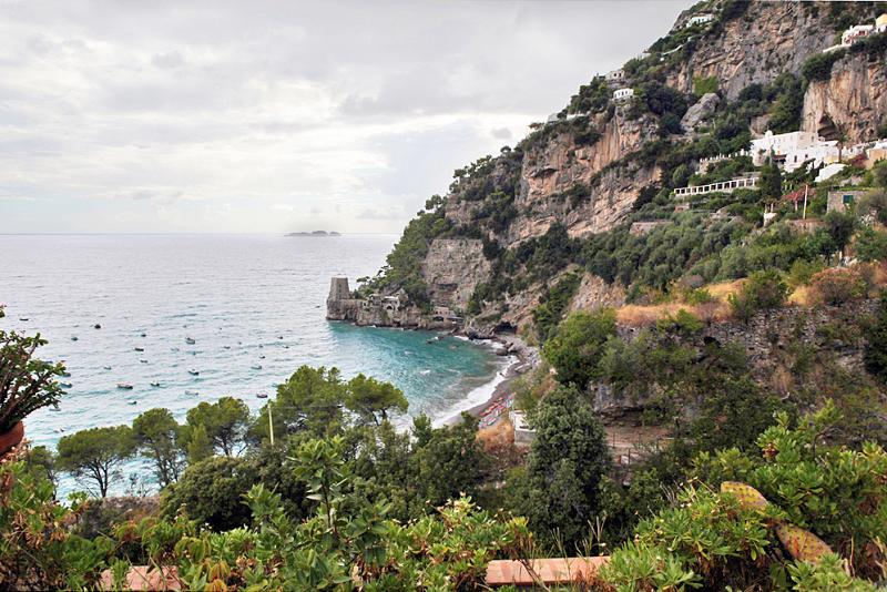 View from the private terrace - A Private Villa with Beach Access in Positano - Positano - rentals