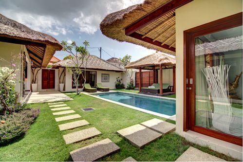 garden view and pool - 3BR villa in umalas area - Denpasar - rentals