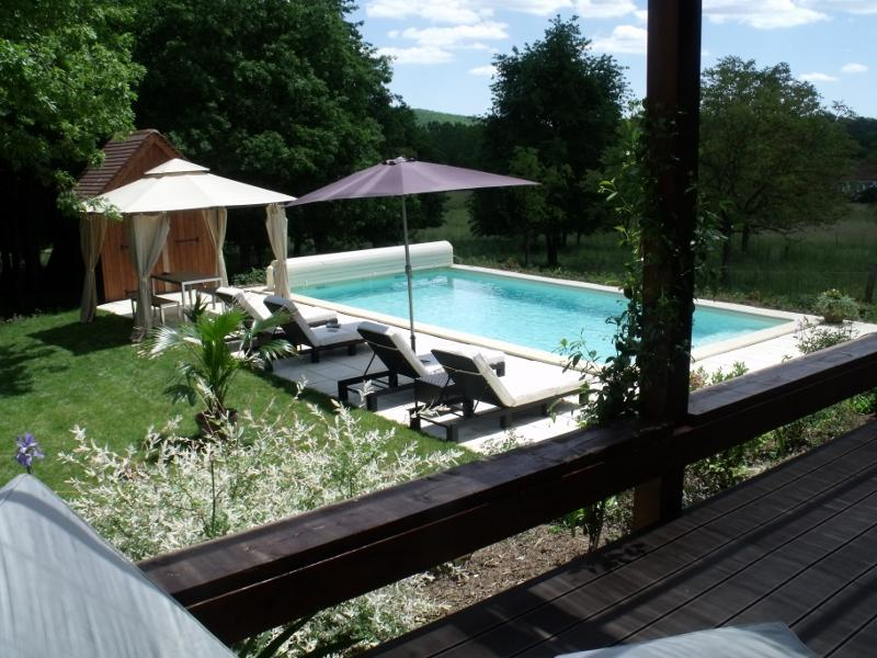 The Pool from the Verandah - LUXURY COUNTRY COTTAGE NEAR TO LOT DORDOGNE BORDER - Gindou - rentals