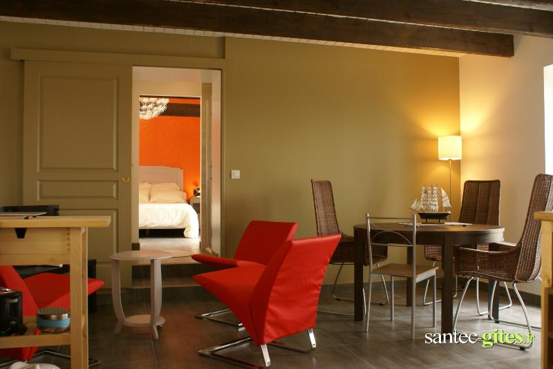 dining room - Nearby the sea, sweety fishermen house, 3 stars - Santec - rentals