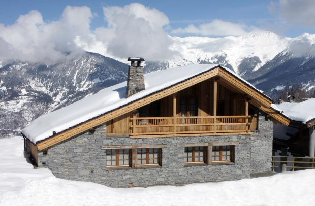 Stone and Brick Facade with Balconies - Luxury Chalet in Courchevel 2 min walk to Ski Lift - Saint Bon Tarentaise - rentals