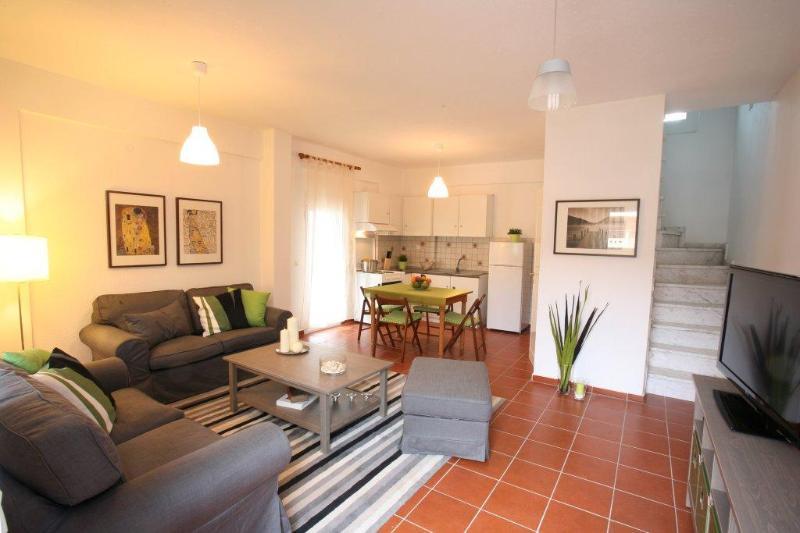 Living Area - Gerakina Skala - Green House - Kalyves Polygyrou - rentals
