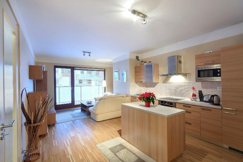 kitchen with view of dinning room - River Diamond Apartment - Prague - rentals