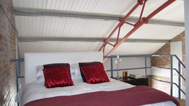 Main bedroom - Stylish 2 bedroom loft overlooking  Atlantic Ocean - Sea Point - rentals