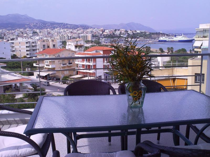 amazing sea view from the big veranda dining table - Paradise sea view in Rafina - Rafina - rentals