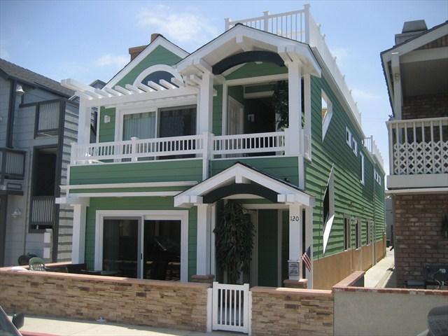 Front - 120 B 24th Street- Upper 3 Bedroom 2 Bath - Newport Beach - rentals