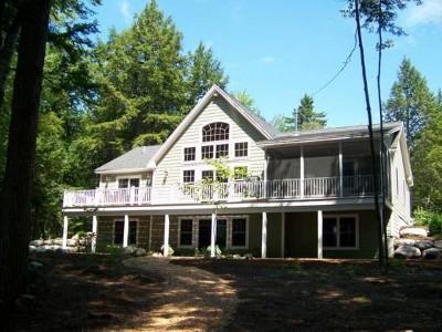 Front of the house - Beautiful Lakefront home in Bridgton, Maine - Bridgton - rentals