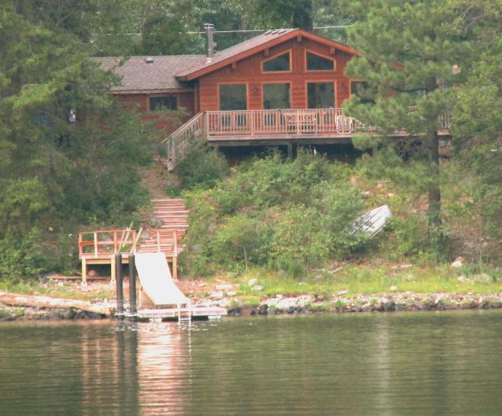 cabin view from lake - Moyie Lake BC -Beautiful lake front property - Moyie - rentals