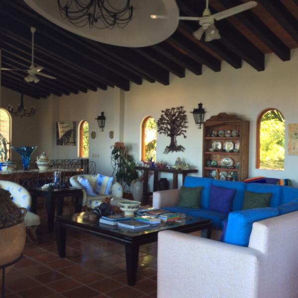 Main Living Room - Conchas Chinas Estate--Villa Hermosa - Puerto Vallarta - rentals