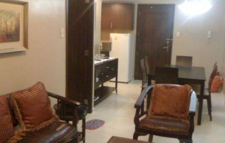Living Room - 1-Bedroom (big) - Unit For Rent @ The A Venue Suites, Makati Ave.  (43.68 sqm) - Makati - rentals