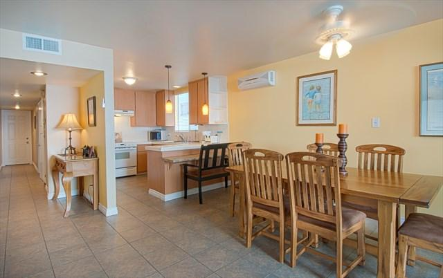 Inside picture showing kitchen and dining area - 5206 A Neptune- Lower 2 Bedroom 2 Baths - Newport Beach - rentals