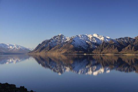The view from Lake Hawea Holiday Park - Holiday Lodge - Lake Hawea - rentals